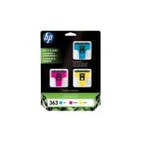 HP 363 - CB333EE - 1 x Yellow,1 x Cyan,1 x Magenta - Ink cartridge - For Photosmart 3210, 3310, 3310xi, C5180, C6180, C6280, C7180, C7280, D6160, D7160, D7360 a
