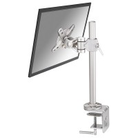 "Newstar Tilt/Turn/Rotate Desk Mount (clamp) for 10-30 Monitor Screen, Height Adjustable - Silver. Tilt, Turn (left and right) and Rotate desk stand suitable for screens between 10"" and 30"" and up to 12kg max. Height Adjustable.This model allows you to til"