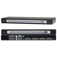 Belkin OmniView Pro3 Series 4-Port KVM Switch with On-Screen Display, PS/2 & USB a
