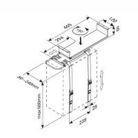 Newstar CPU Holder, height PC: 0-55 cm / width PC: 5-24 cm, Max 30kg, Black a