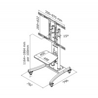 FLOOR STAND/TROLLEY 37-85IN TIL a