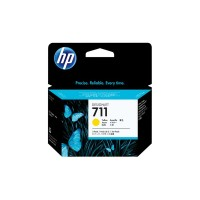 HP 711 - CZ136A - 1 x Yellow - Ink cartridge - For DesignJet T120 ePrinter, T520 ePrinter a
