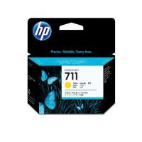 HP 711 - CZ136A - 1 x Yellow - Ink cartridge - For DesignJet T120 ePrinter, T520 ePrinter a
