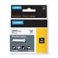 Dymo Rhino Tape Original flexible 24mm Black on white 1734524 a