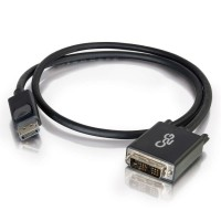2m DisplayPort Male to DVI-D Male (Single Link) Adapter / Converter, Black C2G Cable a