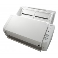 Fujitsu SP-1120 Document Scanner. 20 ppm, 40 ipm, A4, Duplex (colour), 50 Sheet ADF. 600dpi, USB 2.0 (cable in the box), PaperStream IP (TWAIN, ISIS), Presto! Page Manager, ABBYY FineReader Sprint. Dropbox, Google Drive, SkyDrive, Box, SugarSync and Evern