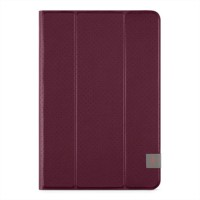 Belkin Tri-Fold Cover - Flip cover for tablet - dark red a