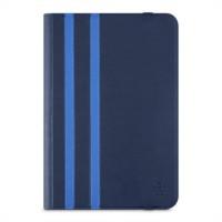 Belkin Twin Stripe - Flip cover for tablet - dark blue a