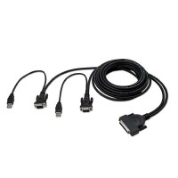 Belkin OmniView Pro3 & Enterprise Series Dual-Port USB KVM Cable 1.8m a