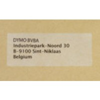 Permanent adhesive plastic address labels - transparent - 36 x 89 mm - 260 label(s) ( 1 roll(s) x 260 ) - for DYMO LabelWriter 300, 400, 450, 4XL - S0722410 a