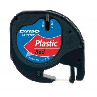 DYMO LetraTag Tape 12mm Plastic Red a