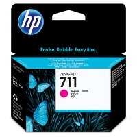 HP 711 - CZ131A - 1 x Magenta - Ink cartridge - For DesignJet T120 ePrinter, T520 ePrinter a