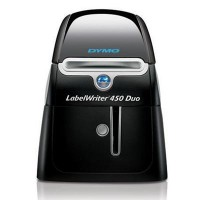 DYMO LabelWriter 450 Duo Label Printer Print paper labels and permanent DYMO D1 plastic labels in a variety of colors and sizes Label, mail, and file smarter with proprietary DYMO Label v.8 Software. Prints up to 71 labels per minute, thermal printing tec