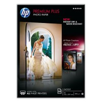 HP Premium Plus Photo Paper - Glossy photo paper - A4 (210 x 297 mm) - 300 g/m² - 20 sheet(s) - for Envy 100 D410, 11X D411, PageWide MFP 377, PageWide Pro 452, Photosmart 5525, 6525 a