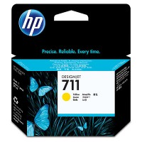HP 711 - CZ132A - 1 x Yellow - Ink cartridge - For DesignJet T120 ePrinter, T520 ePrinter a