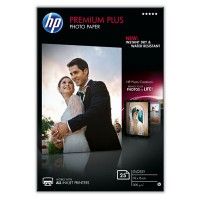 HP Premium Plus Photo Paper - Glossy photo paper - 100 x 150 mm - 300 g/m² - 25 sheet(s) - for Envy 100 D410, 11X D411, PageWide MFP 377, PageWide Pro 452, Photosmart 5525, 6525 a