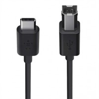 Belkin MIXIT - USB cable - USB Type B (M) to USB Type C (M) - 1.8 m - black a