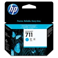 HP 711 - CZ130A - 1 x Cyan - Ink cartridge - For DesignJet T120 ePrinter, T520 ePrinter a
