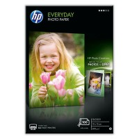 HP Everyday Photo Paper - Glossy photo paper - 8 mil 100 x 150 mm - 200 g/m² - 100 sheet(s) - for PageWide MFP 377dw, PageWide Pro 452dwt a