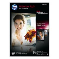 HP Premium Plus Photo Paper - Semi-gloss photo paper - A4 (210 x 297 mm) - 300 g/m² - 20 sheet(s) - for Envy 100 D410, 11X D411, PageWide MFP 377, PageWide Pro 452, Photosmart 5525, 6525 a