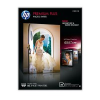 HP Premium Plus Photo Paper - Glossy photo paper - 130 x 180 mm - 300 g/m² - 20 sheet(s) - for Envy 100 D410, 11X D411, PageWide MFP 377, PageWide Pro 452, Photosmart 5525, 6525 a
