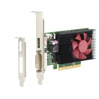 NVIDIA GeForce GT730 - Graphics card - GF GT 730 - 2 GB DDR3 - PCIe x8 low profile - DVI, DisplayPort - for EliteDesk 705 G2 (micro tower, SFF), 800 G2 (SFF, tower), EliteOne 800 G2, ProDesk 400 G3 a