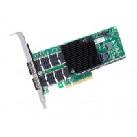Intel Ethernet Converged Network Adapter XL710-QDA2 - Network adapter - PCI Express 3.0 x8 low profile - 40 Gigabit QSFP+ x 2 a