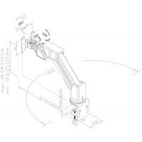 Newstar Flatscreen Desk Mount 10-30, clamp , 1 screen, 2 pivots, Tilt/Rotate/Swivel, Vesa 75x75 to 100x100mm, Height 0-31cm (mechanical spring), Max 10kg, Black a