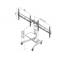 FLOOR STAND/TROLLEY DUAL 32-70I a