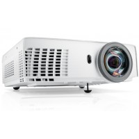 Dell S320 Short throw Projector XGA (1024 X 768), 2,200:1 Contrast Ratio, 3,000 ANSI Lumens, 1 x 5W Built in Speakers, Connectivity HDMI, VGA, USB, RS232, Micro USB, Wireless Optional Throw Ratio: 0.626 (wide and tele) 3Y NBD (Next Business Day) Exchange