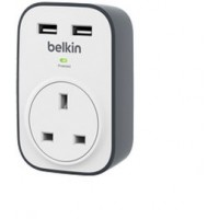 Belkin SurgeCube 1-Way Surge Protector w/ 2x 2.4amp USB Charging a