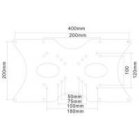 Newstar VESA Conversion Plate from Vesa 75x75mm & 100x100mm to 200x100mm, 200x200mm & 400x200mm, Silver a