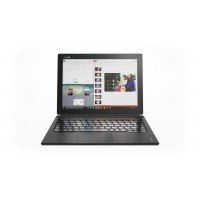 Lenovo Miix 700-12ISK 80QL - Tablet - with detachable keyboard - Core m7 6Y75 / 1.2 GHz - Win 10 Pro 64-bit - 8 GB RAM - 256 GB SSD - 12 IPS touchscreen 2160 x 1440 ( Full HD Plus ) - HD Graphics 515 - Wi-Fi, Bluetooth - 4G - black - kbd: English - United
