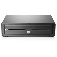 HP Standard Duty Cash Drawer - Electronic cash drawer - black - for ElitePad Mobile POS G2 Solution, RP3 Retail System 3100, RP7 Retail System 7100, 7800 a