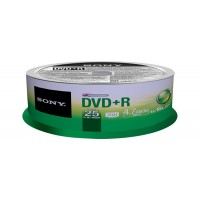 DVD+R 16X SPINDLE 25 PCS a