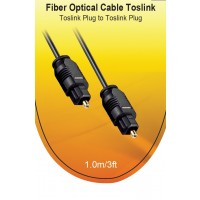 TOSLINK CABLE 1M BLACK a