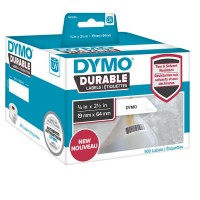 DYMO LabelWriter DURABLE - Bar code labels - white - 64 x 19 mm 900 label(s) ( 1 roll(s) x 900 ) - for DYMO LabelWriter 450 a