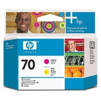 HP 70 MAGENTA AND YELLOW PRINTH a