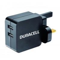 DURACELL TWIN USB CHARGER WHITE a