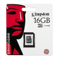 Kingston memory 16GB microSDHC Class 4 Flash Card Single Pack w/o Adapter a