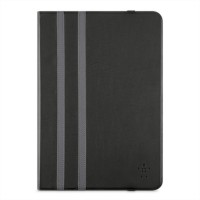 Belkin Twin Stripe - Flip cover for tablet - black a