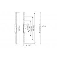 PFS 3208, Interface display strips  - flat, 800mm, 160kg a