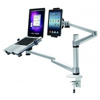 "NewStar Desk Mount (clamp) FPMA-D300NOTEBOOK - Desk mount for LCD display / notebook - silver - screen size: 10-27"" a"