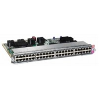 Cisco Line Card E-Series - Switch - 48 x 10/100/1000 (PoE+) - plug-in module - PoE+ a