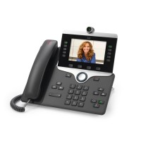 Cisco IP Phone 8845 - IP video phone - digital camera, Bluetooth interface - SIP, SDP - 5 lines - charcoal a