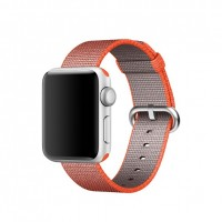 Apple 38mm Woven Nylon Band - Watch strap - anthracite, space orange - for Watch (38 mm)