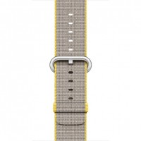 Apple 38mm Woven Nylon Band - Watch strap - yellow, light grey - for Watch (38 mm) a