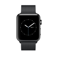 Apple Watch Series 2 - 42 mm - stainless steel - smart watch with milanese loop - stainless steel - space black - 150-200 mm - Wi-Fi, Bluetooth - 52.4 g - space black a