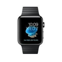 Apple Watch Series 2 - 42 mm - space black stainless steel - smart watch with link bracelet - stainless steel - space black - 140-205 mm - Wi-Fi, Bluetooth - 52.4 g a