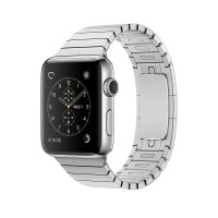 Apple Watch Series 2 - 42 mm - stainless steel - smart watch with link bracelet - stainless steel - silver - 140-205 mm - colour - Wi-Fi, Bluetooth - 52.4 g a